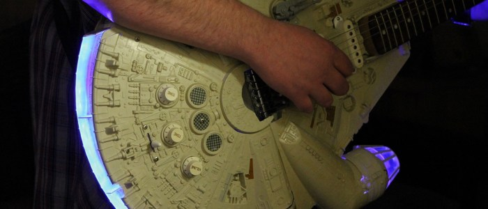 Rebel Bass: Star Wars guitars with Millennium Falcon bodies