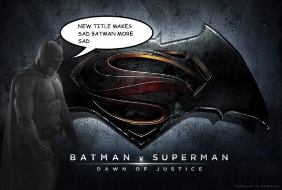 Batman V Superman: Dawn of Justice Responses sad batman