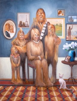 """Wookie Family Portrait"" by Maya Gohill"