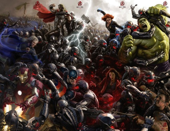 Avengers: Age Of Ultron Concept Art Poster from Comic Con 2014