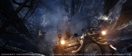Harry Potter and the Escape From Gringotts Bank concept art