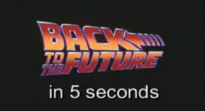 Back to the Future in 5 seconds
