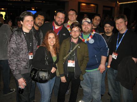 Peter Sciretta, Neil Miller, Kevin Kelly, Brian, Ken Evans, Mel Valentin, Alex Billington and the Blip Festival Guys
