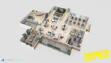 Brooklyn Nine-Nine 3D Floor Plan