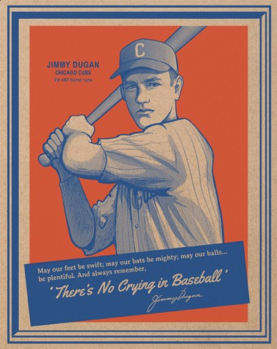 "castlepöp ""There's No Crying in Baseball"" Print"
