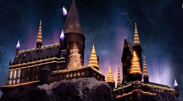 christmas in the wizarding world of harry potter hollywood