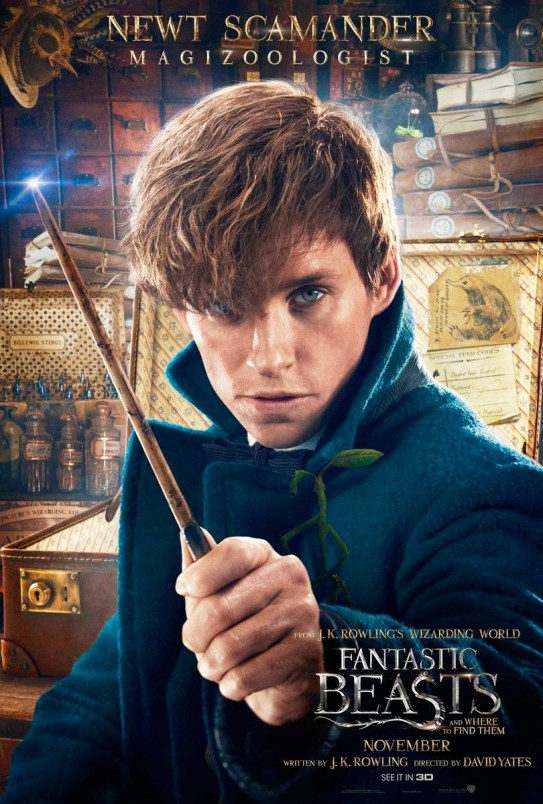 Fantastic Beasts and Where to Find Them Character Poster - Newt Scamander