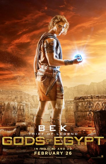 Gods of Egypt - Brenton Thwaites as Bek