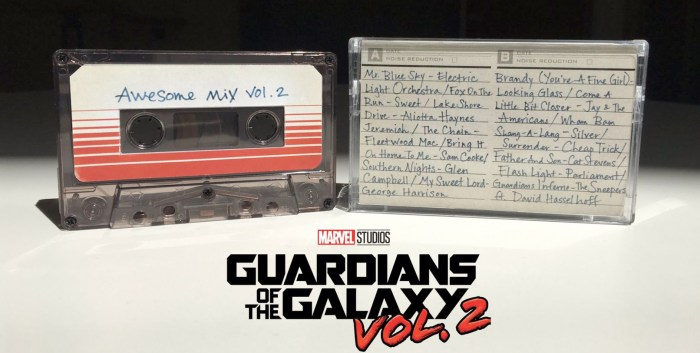 Guardians of the Galaxy 2 Soundtrack Cassette