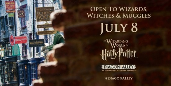Harry potter Diagon alley opening date