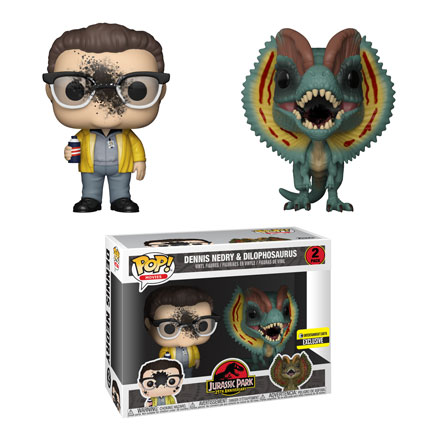 Dennis Nedry and Dilophosaurus 2-pack is available only at Entertainment Earth