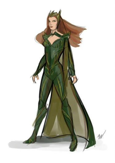 Justice League - Mera Concept Art