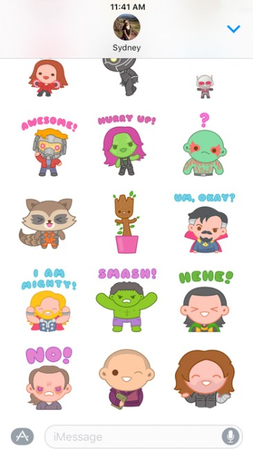 Marvel Stickers 100% Soft