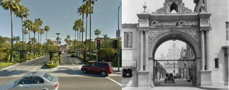 Paramount Studio Lot Expansion: bronson gate now and old