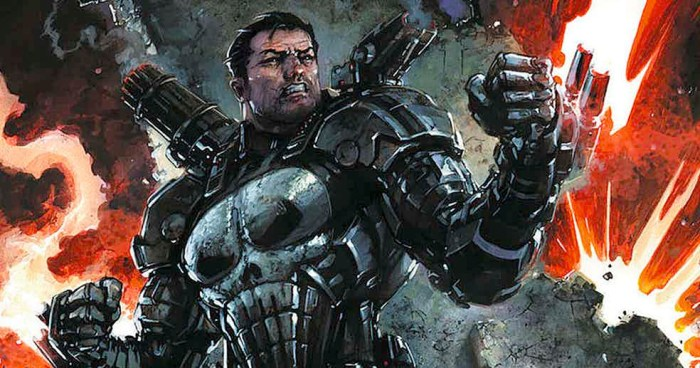The Punisher #218 - War Machine Armor