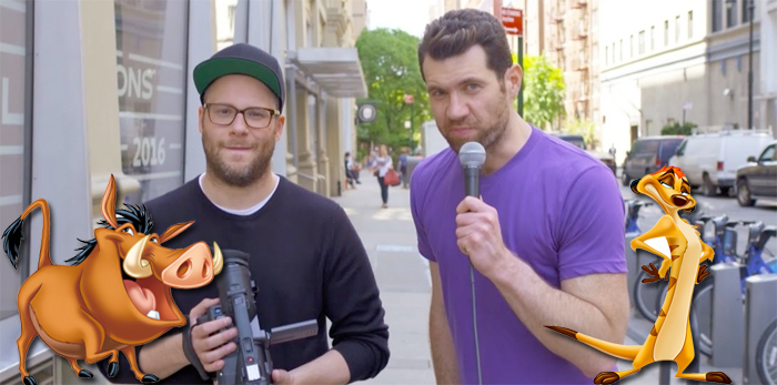 The Lion King Remake Cast - Seth Rogen and Billy Eichner as Timon and Pumbaa