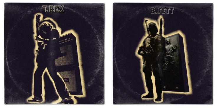 Star Wars vinyl mash-up albums - T.Rex