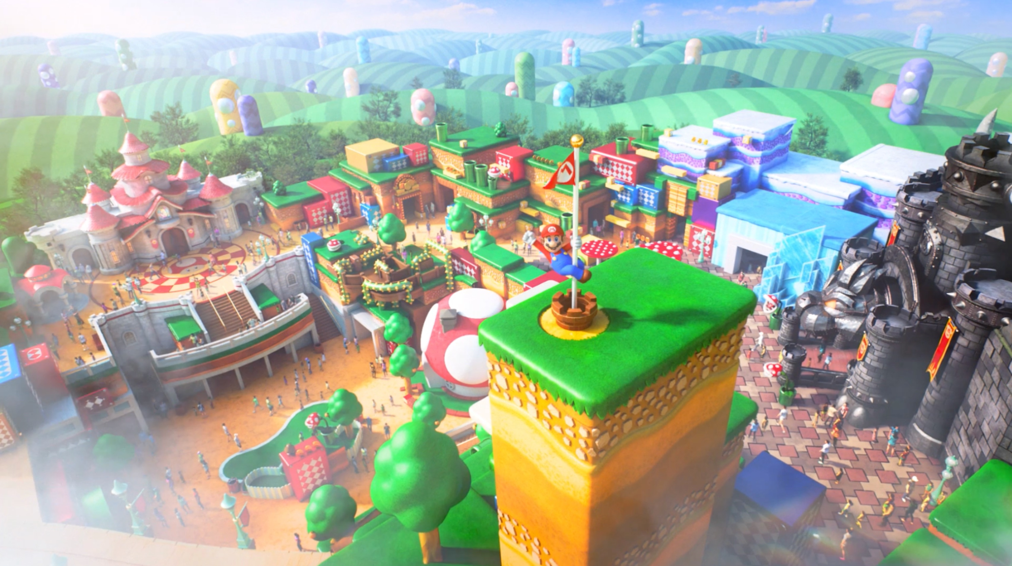 Super Nintendo World Concept Art Reveals Zeldas Kingdom