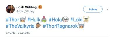 Thor Ragnarok Twitter Emojis