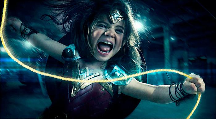 Photoshop Dad - Wonder Woman Daughter