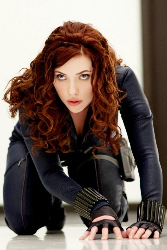 Scarlett Johansson as Black Widow in Iron Man 2