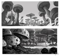 More Concept Art from Tim Burtons Alice in Wonderland