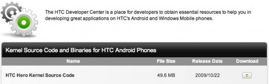 htc hero kernel source code 540x170