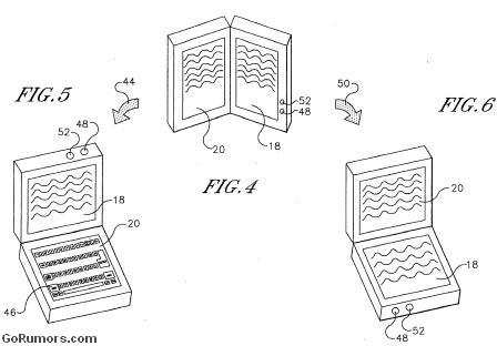 Sony dual-display touchscreen ereader patent application