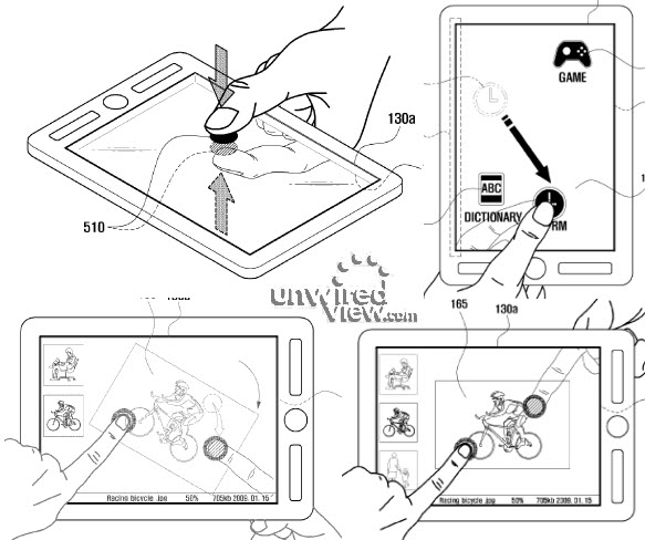 Samsung dual-touch patent application tips double-sided