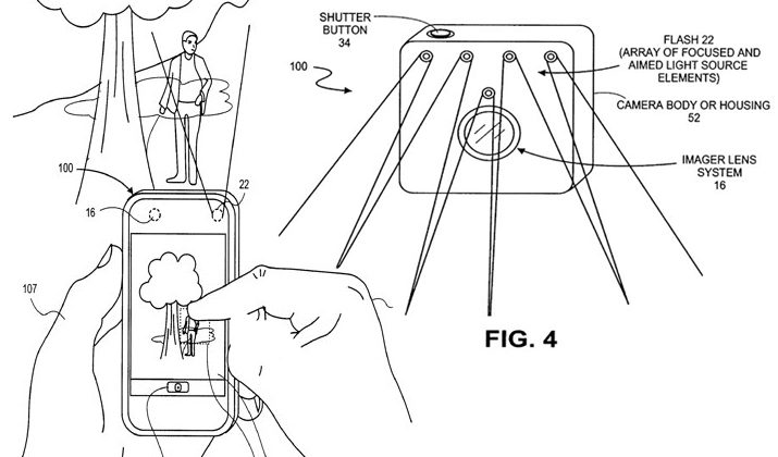 Apple flash redirector system could target camera lighting