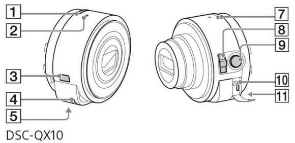 Sony Lens Cameras QX10 and QX100 manuals leak in hardware