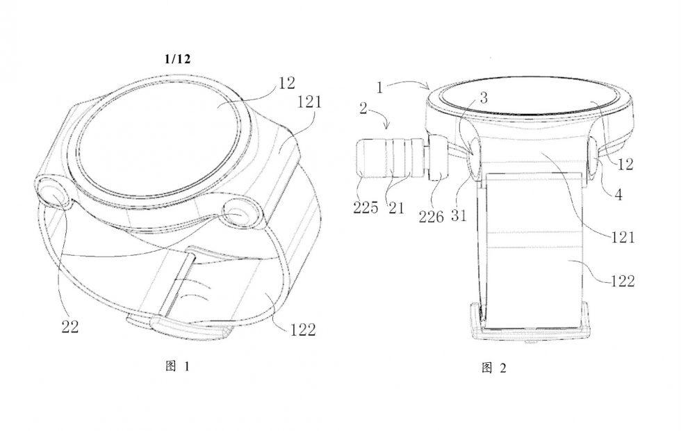 Huawei smartwatch design cleverly hides two wireless