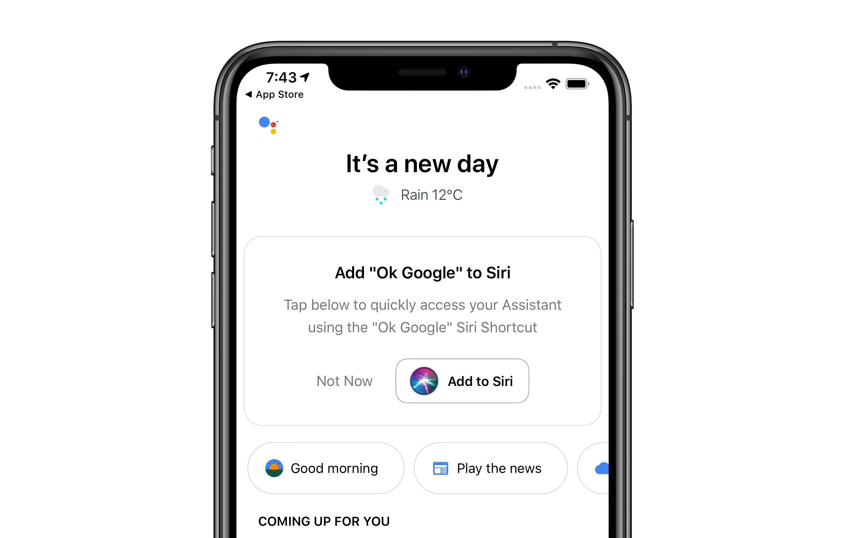 Now Siri will let you speak to the Google Assistant