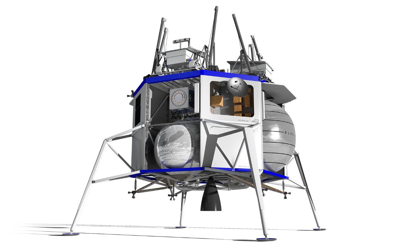 Blue Origin Unveils Lunar Lander Blue Moon And Be 7