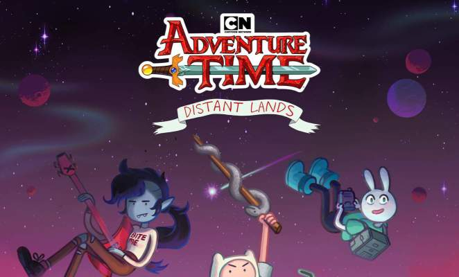 Adventure Time poster for Distant Lands