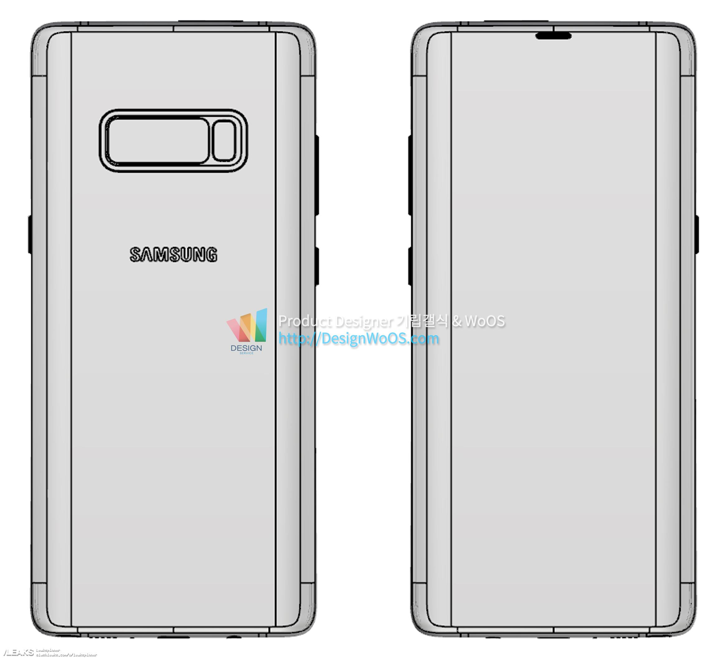 Fresh Galaxy Note 8 leaked schematics confirm the phone's most ...