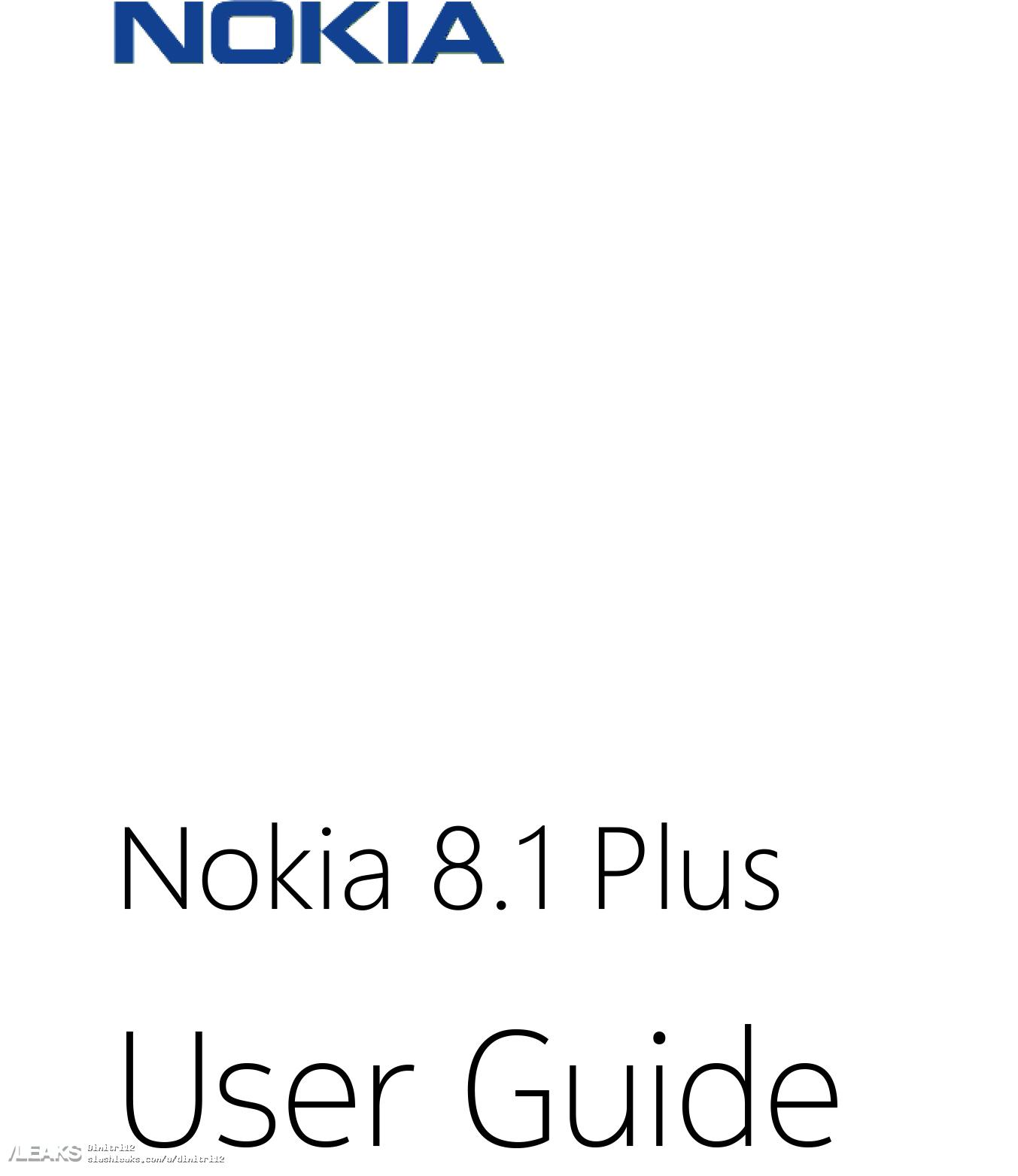 Nokia 8.1 Plus user manual surfaces early « SLASHLEAKS
