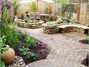 Garden Paving With Slate Slabs Paving Slabs Garden Paving Designs