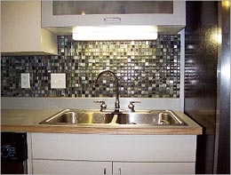 slate backsplash in kitchen chandelier tile