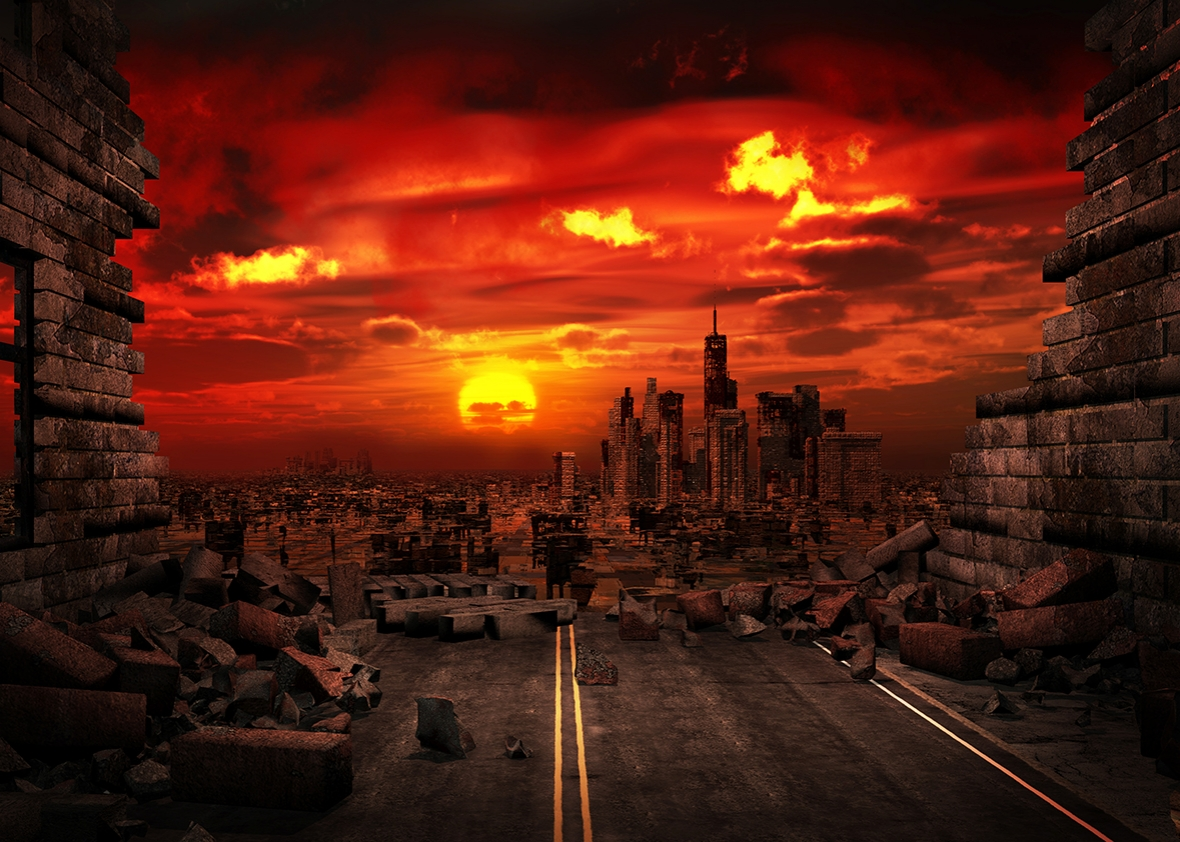 Apocalyptic scenery.