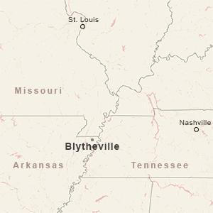 BLYTHEVILLE, ARK. MAP INSET