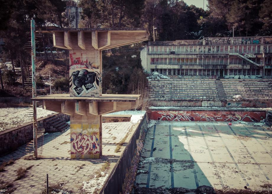 The Eerie GraffitiCovered Abandoned Swimming Pools of
