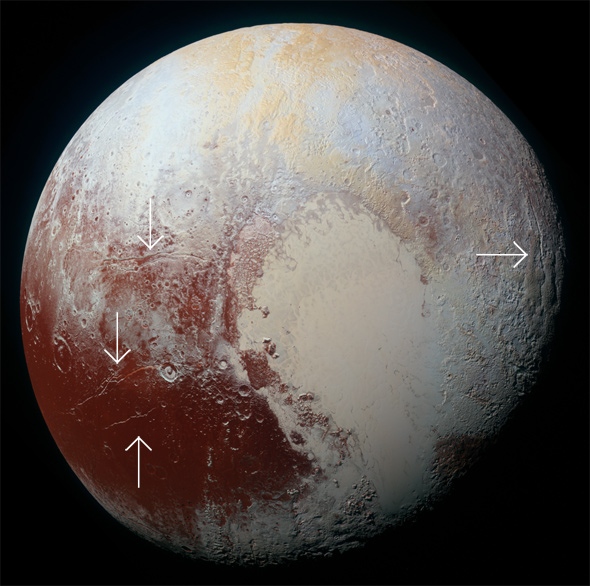 Pluto cracks
