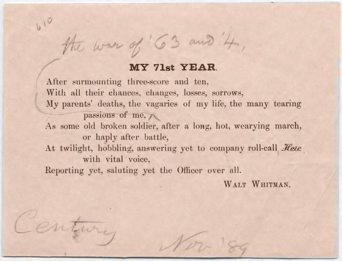 Whitman Poem