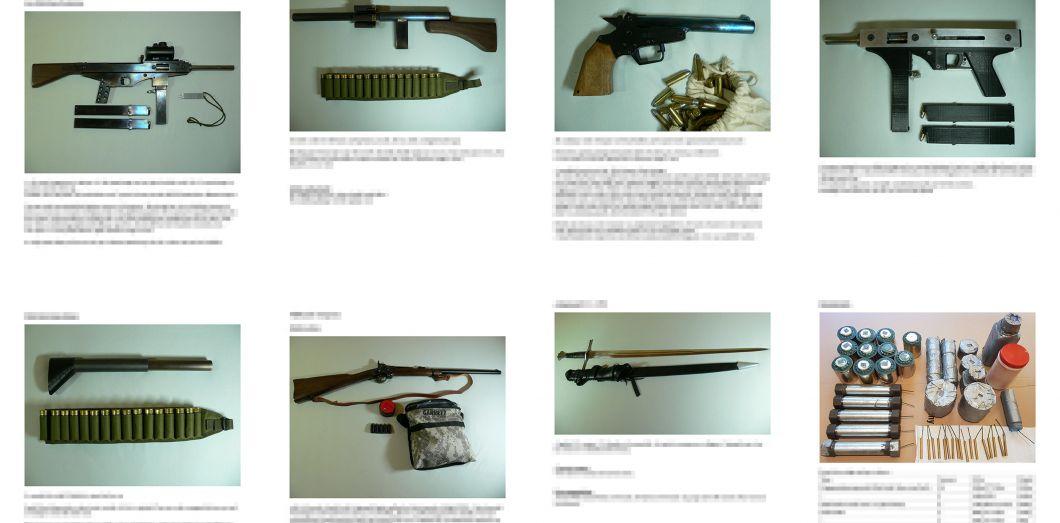 Des documents en ligne obtenus par l'AFP sur la plateforme 4chan montrent des images d'armes et munitions faites mains.AFP photo/4Chan