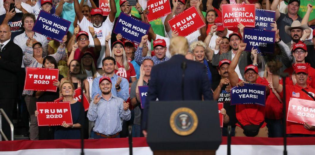 Donald Trumpà Orlando en Floride, le 18 juin 2019. | Joe Raedle / AFP