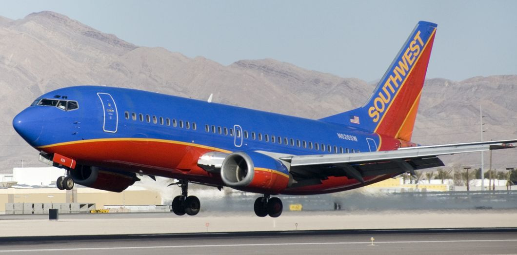 Un Boeing 737 de Southwest Airlines | Southwest 737 via Wikimedia Commons License by