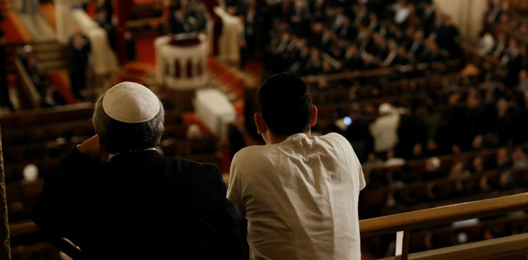 Hommage au grand-rabbin Joseph Sitruk à la grande synagogue de Paris, le 25 septembre 2016   Thomas Samson / AFP