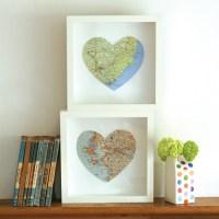 Personalised Bespoke Map Heart