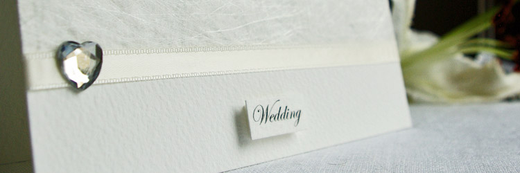 'White Wedding' invitation